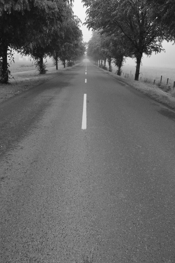 Wahlscheider Straße im Nebel
